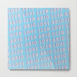 Love Scenario - Typography Metal Print