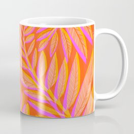 Hot Tropics - Orange Pink Tropical Vines Coffee Mug