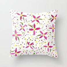 Petals and Joy Throw Pillow
