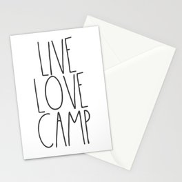 Live, Love, Camp Stationery Cards