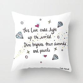 Love Watercolor Lyric Drawing Throw Pillow