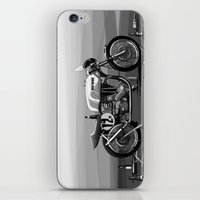 cafe racer iPhone & iPod Skins featuring Beer Savage Vintage Norton Cafe Racer by TCORNELIUS