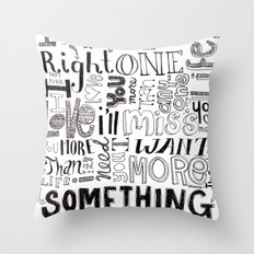 Something About Us Throw Pillow
