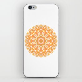 Mandala 12 / 1 eden spirit orange yellow pink Carnelian iPhone Skin