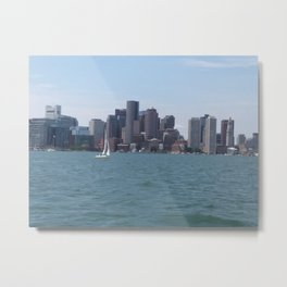 Boston Harbor in the Summer Metal Print