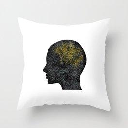Clever brain Throw Pillow