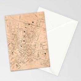 Vintage Map of Trenton NJ (1849) Stationery Cards