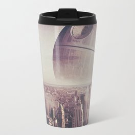 Death Star Over New York Travel Mug