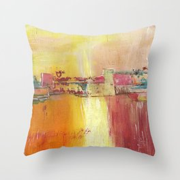 Buring Collage Throw Pillow
