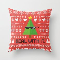 Deal with It. Throw Pillow