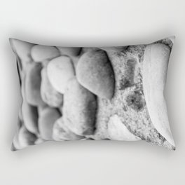 Black and White Stones Rectangular Pillow