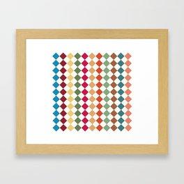 Kariert und bunt Framed Art Print