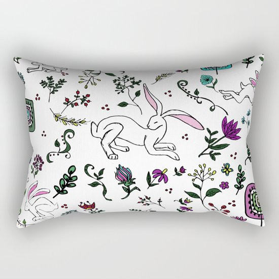 Spring Hare Rectangular Pillow