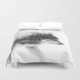 Wolf Stalking Duvet Cover
