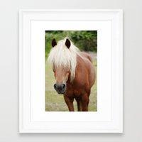 pony Framed Art Prints featuring Pony by Heidi Franz