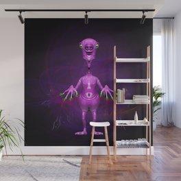 Fun Pink Alien Telepathic Power Wall Mural