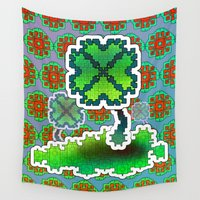 clover Wall Tapestries featuring Clover Field by Dusty Goods