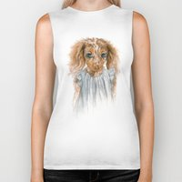 puppy Biker Tanks featuring Puppy by Leslie Evans