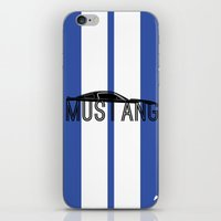 mustang iPhone & iPod Skins featuring Mustang by Salmanorguk
