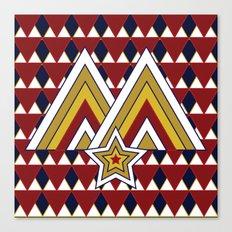 Colorado Mountain Monark Pattern Canvas Print