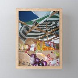 Manhattan Fruit Stand Framed Mini Art Print