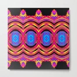 Psychedelic Swirls Metal Print