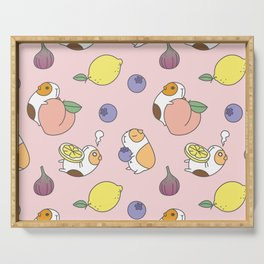 Guinea pig and fruits pattern Serving Tray