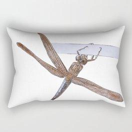Shy Little Dragonfly Rectangular Pillow