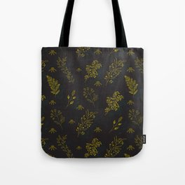 Thin delicate lines silhouettes of different plants. Tote Bag
