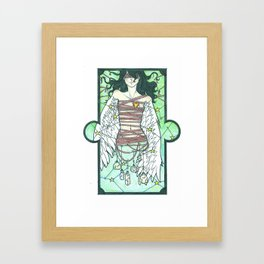 still she has no name (color). Framed Art Print