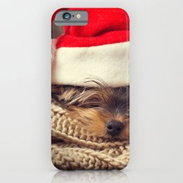 Christmas New Year Maltese lapdog cute animals small dog year of dog concepts iPhone Case