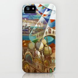The Carnival of Venice landscape painting by Gerardo Dottori iPhone Case