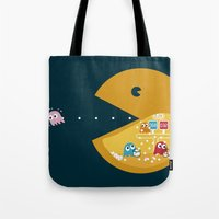games Tote Bags featuring Indoor Games by KingImagine