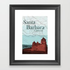 Santa Barbara Mission Framed Art Print