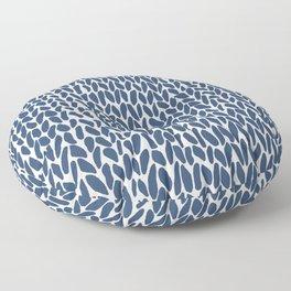 Hand Knit Zoom Navy Floor Pillow