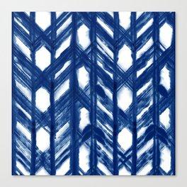 Shibori Lattice Canvas Print