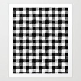 Black & White Vichy Art Print