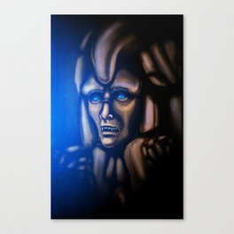 The emperor crying Canvas Print