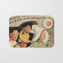 French belle epoque pottery expo advertising Bath Mat