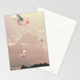 Flying Pigs Stationery Cards