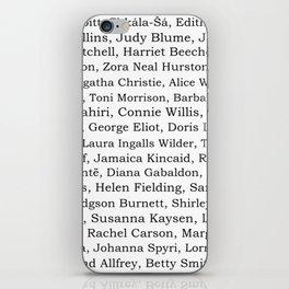 The Ladies of Literature Pattern iPhone Skin