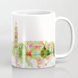 Colorful Harvard University Skyline Coffee Mug