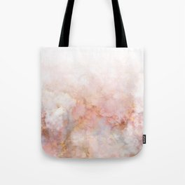 Beautiful Pink and Gold Ombre marble under snow Tote Bag