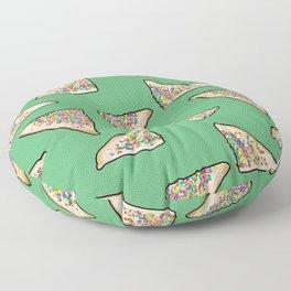 Fairy Bread in Green, Aussie 90s birthday party Floor Pillow