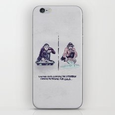 Planning for gold in the litter box iPhone & iPod Skin