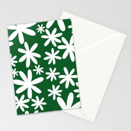 Tiare Flower Green Stationery Cards