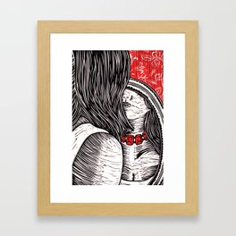 I Saw How Much That Cruel Necklace Became Me Framed Art Print