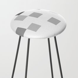 Gray Scale In Pixels Counter Stool
