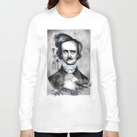edgar allan poe Long Sleeve T-shirts featuring Edgar Allan Poe by JsuauG