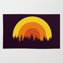 summer mountain Rug
